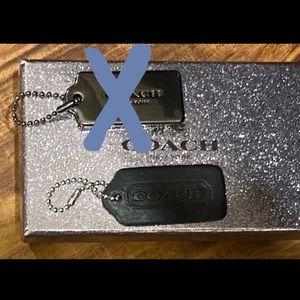 Coach Black Leather Hangtag & Coach Box